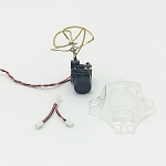 Crazepony 5.8GHz 40CH 25mW Camera with Circular Polarized Clover Antenna