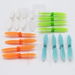 Four Sets Of Micro Propellers (16 total Propellers) In Four Colors