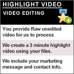 3 minute edited video highlight using your raw video