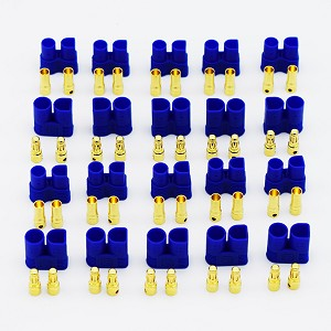 EC3 Ten Pack Banana Plug Female and Male Bullet Connectors for RC LIPO Batteries