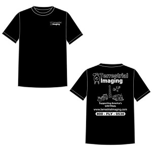 Terrestrial Imaging Black T-Shirt (Large)