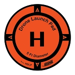 Hoodman 5 Ft. Weighted Drone Launch Pad