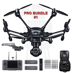 Yuneec Typhoon H PRO Bundle #1 RTF in Backpack w/RealSense,ST16,CGO3+, w/Wizard, 2Batteries (US)