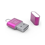 USB 2.0 Micro SD to USB Card Reader (Pink)